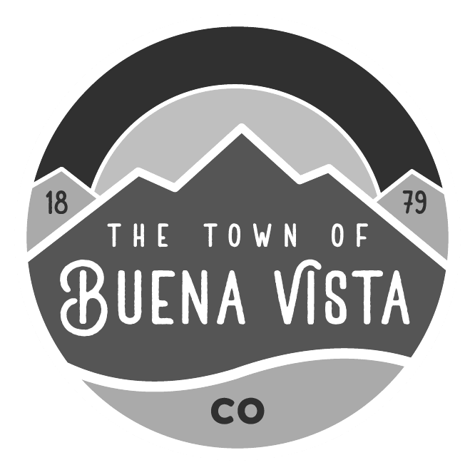The Town of Buena Vista Colorado 1879 in black and white